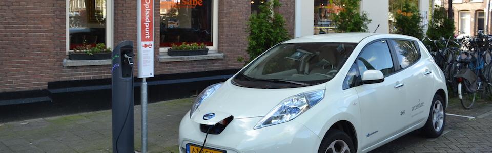 A Nissan Leaf electric vehicle