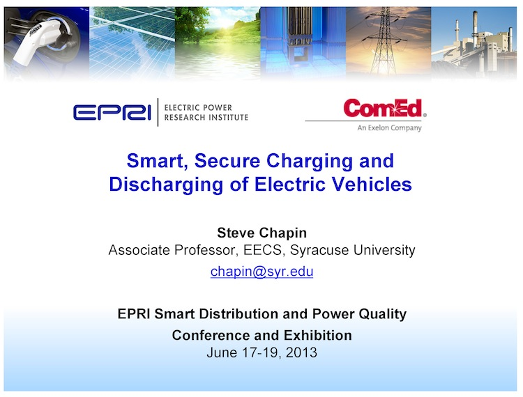 Secure Charging of EVs